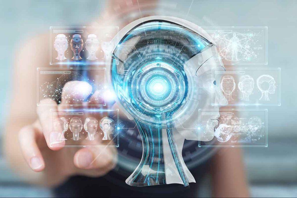 Futuristic brain graphic